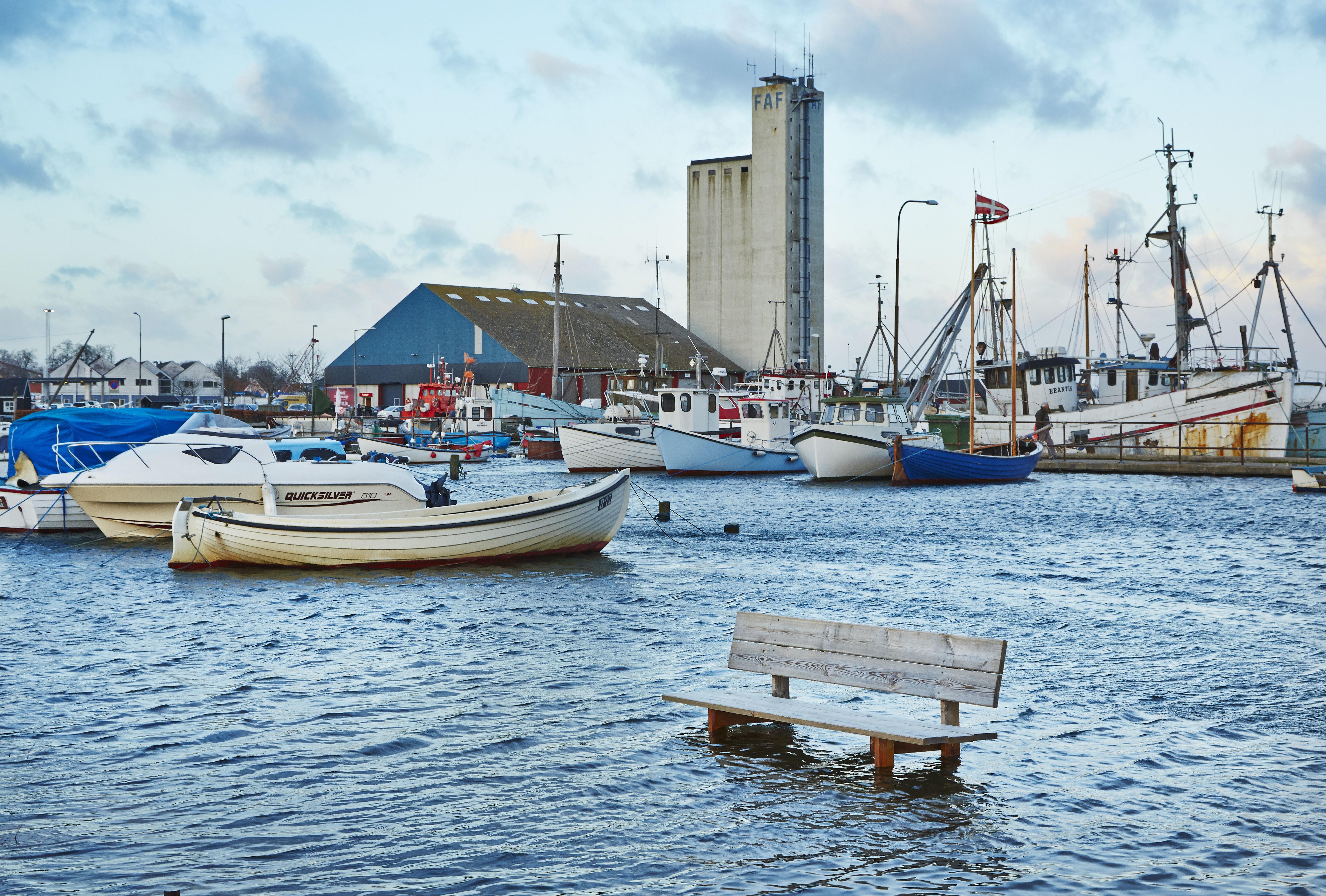 Byerne skal klimasikres: Gennem de sidste 655 år, er der registreret 132 stormfloder i Danmark. Mere end en femtedel af dem er sket indenfor de sidste 26 år. Foto: Steffen Stamp for Realdania
