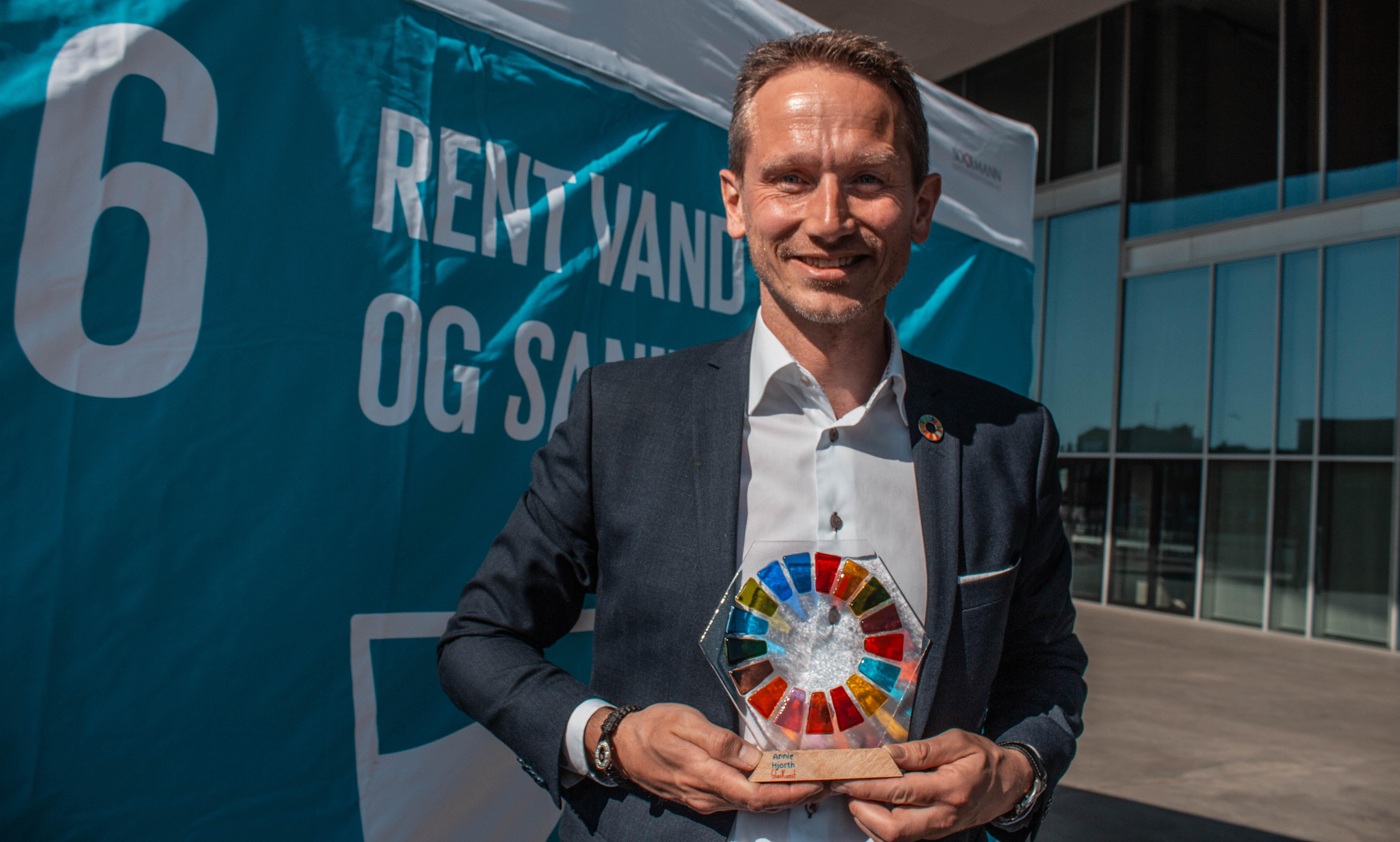 Finansminister Kristian Jensen deltog ved åbningen af 'Danmark for Målene'. Her lagde han bl.a. vægt på vigtigheden af samarbejder. Foto: Lauge Eilsøe-Madsen