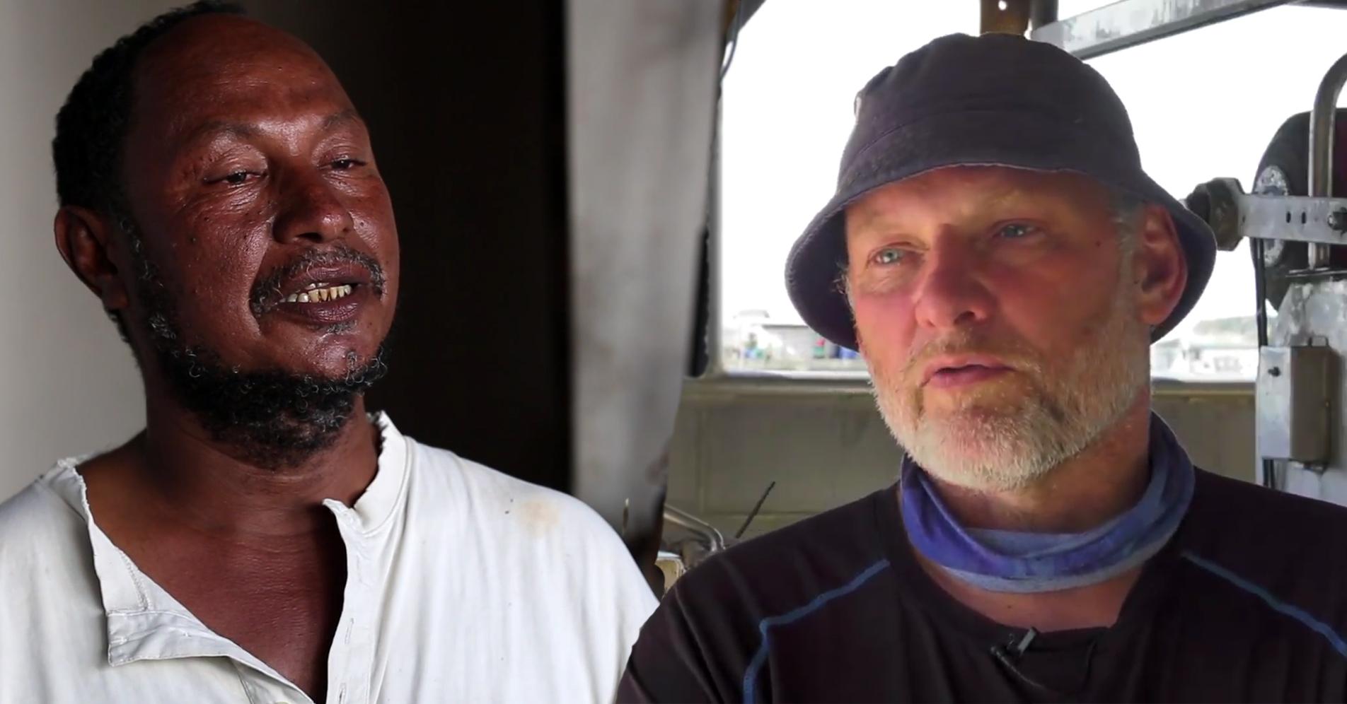 """Nyt undervisningsmateriale og dokumentar sætter fokus på overfiskning og lokale fiskeres udfordringer i både Danmark og Kenya. Foto: Billeder taget fra dokumentarfilmen """"Kystfiskerne og kampen om fisken"""""""
