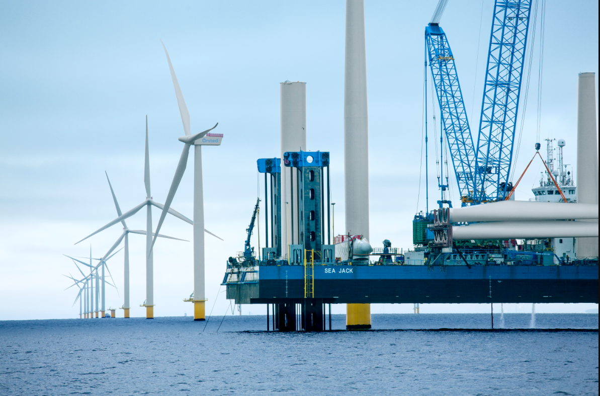 De danske pensionsselskaber har planer om at investere 350 milliarder kroner i den grønne omstilling frem til 2030. Foto: Ørsted